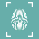 Fingerprint Icon isolated in frame. Vector illustration eps10 Royalty Free Stock Image