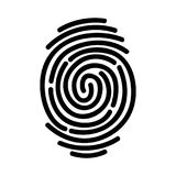Fingerprint icon isolated on white background. Vector illustration Royalty Free Stock Photography