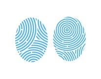 Fingerprint. Icon set. Vector illustration EPS Stock Photography
