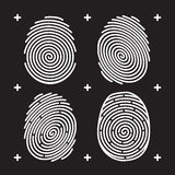 Fingerprint icon set Royalty Free Stock Photos