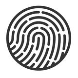 Fingerprint icon. Touch protection symbol. Secure identification sign. Vector illustration Stock Photo