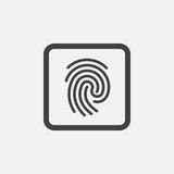 Fingerprint icon Vector illustration isolated on white . Fingerprint icon Vector illustration isolated on white Royalty Free Stock Image