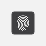 Fingerprint icon Vector illustration isolated on white.  Royalty Free Stock Photo