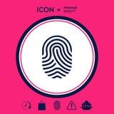 fingerprint Icona esplorata del dito Fotografia Stock Libera da Diritti