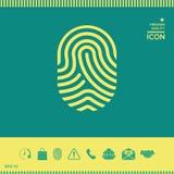 fingerprint Icona esplorata del dito Immagini Stock Libere da Diritti