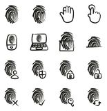 Fingerprint Icons Freehand. This image is a vector illustration and can be scaled to any size without loss of resolution Royalty Free Stock Image