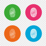 Fingerprint icons. Identification signs. Royalty Free Stock Images