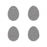 Fingerprint icons set. Fingerprint icons, black on white background Stock Photos