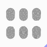Fingerprint icons set. Set of fingerprint icons illustration Royalty Free Stock Photography
