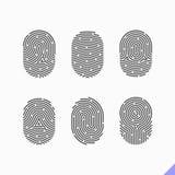 Fingerprint icons set Royalty Free Stock Photography