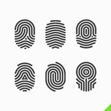 Fingerprint icons set Royalty Free Stock Image