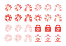 Fingerprint Icons Stock Photography