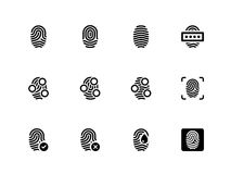 Fingerprint icons on white background. Vector illustration Stock Photography