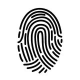 Fingerprint ID line art icon for apps with security unlock. – for stock Stock Images