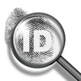 Fingerprint identification biometrics concept Stock Photos