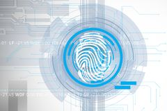Fingerprint identification graphic Stock Image