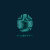 Fingerprint identification icon. Vector Stock Photo