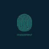 Fingerprint identification icon. Vector. Illustration EPS 10 Stock Photo