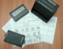Fingerprint identification objects Stock Photo