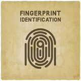 Fingerprint identification symbol vintage background. Vector illustration - eps 10 Stock Image