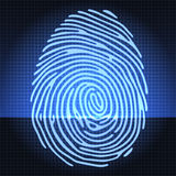 Fingerprint identification system. Abstract background Royalty Free Stock Photo