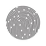 Fingerprint identification system, black symbol Royalty Free Stock Photography