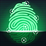 Fingerprint identification system Stock Image