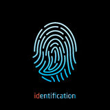 Fingerprint. For identification vector icon Stock Photography