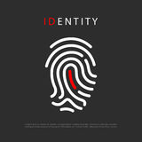 Fingerprint identity vector logo. Finger print identity vector logo Royalty Free Stock Images