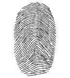 Fingerprint - Illustration. Royalty Free Stock Photos