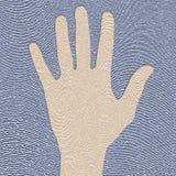 Fingerprint. Illustration of hand impress in fingerprint Royalty Free Stock Photos