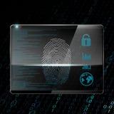fingerprint Illustrazione di riserva Immagine Stock Libera da Diritti