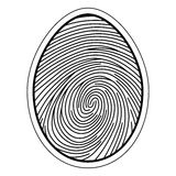 Fingerprint image of a finger. Fingerprint image of the finger curls of the capillaries, vector concept identification and security data storage Stock Photography