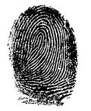 Fingerprint - Index Finger Stock Images