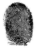 Fingerprint - Index Finger Stock Images