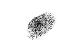 Fingerprint. Isolated on a white Stock Images