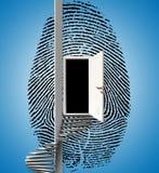 Fingerprint Ladder stock illustration