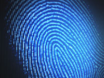 Fingerprint. On a led screen. Concept of technology Royalty Free Stock Image