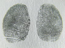 Fingerprint, left an right thumb Royalty Free Stock Photo