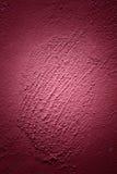 Fingerprint left in wet plaster Royalty Free Stock Photo