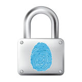 Fingerprint lock Royalty Free Stock Image