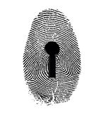 Fingerprint Lock Royalty Free Stock Photos