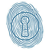 Fingerprint and a lock Royalty Free Stock Photography