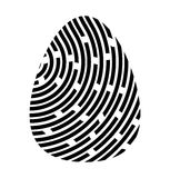 Fingerprint logo vector symbol icon design. Royalty Free Stock Image