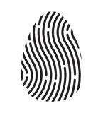 Fingerprint logo vector symbol icon design. Royalty Free Stock Photos