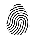 Fingerprint logo vector symbol icon design. Royalty Free Stock Photo