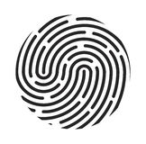 Fingerprint logo vector symbol icon design. Stock Image