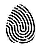 Fingerprint logo vector symbol icon design. Stock Photo