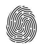 Fingerprint logo vector symbol icon design. Stock Images