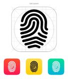 Fingerprint loop type icon. Royalty Free Stock Photography